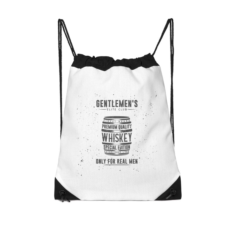 Vintage Whiskey Barrel illustration Accessories Drawstring Bag Bag by Pbatu's Artist Shop