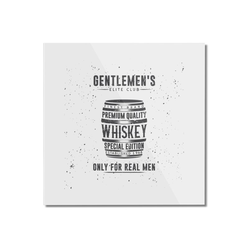 Vintage Whiskey Barrel illustration Home Mounted Acrylic Print by Pbatu's Artist Shop