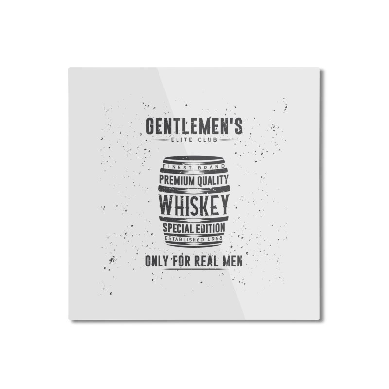 Vintage Whiskey Barrel illustration Home Mounted Aluminum Print by Pbatu's Artist Shop