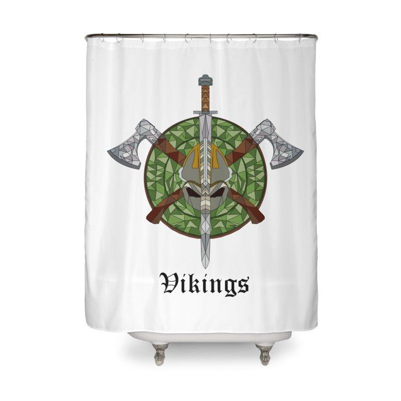 Viking Home Shower Curtain by Pbatu's Artist Shop