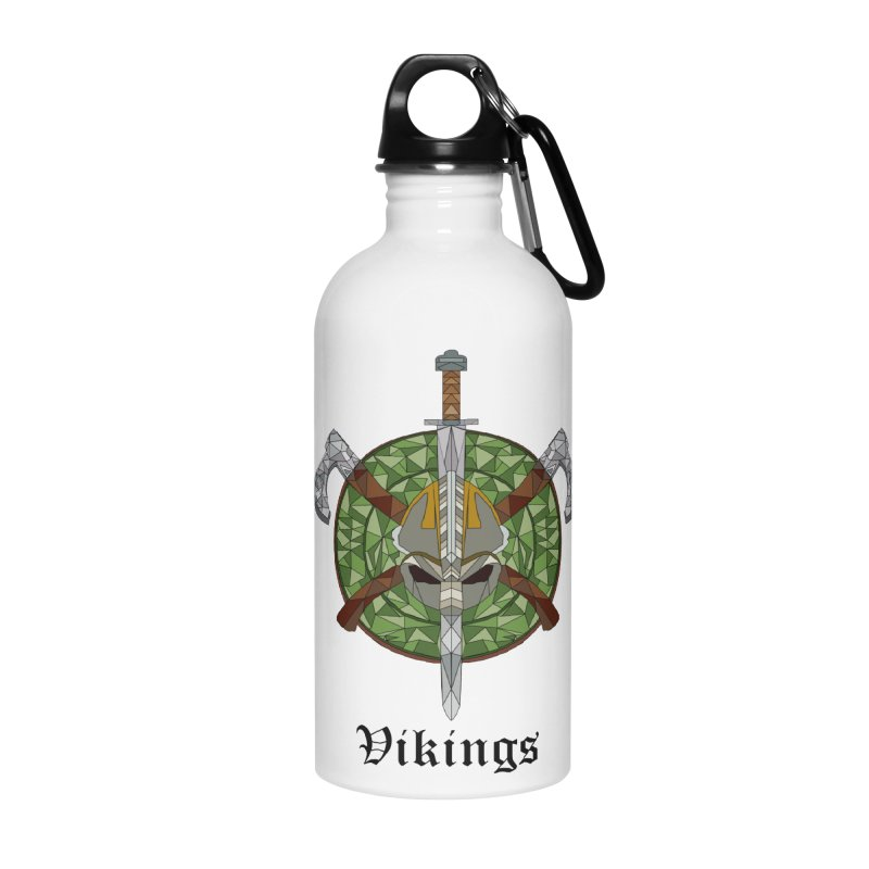 Viking Accessories Water Bottle by Pbatu's Artist Shop