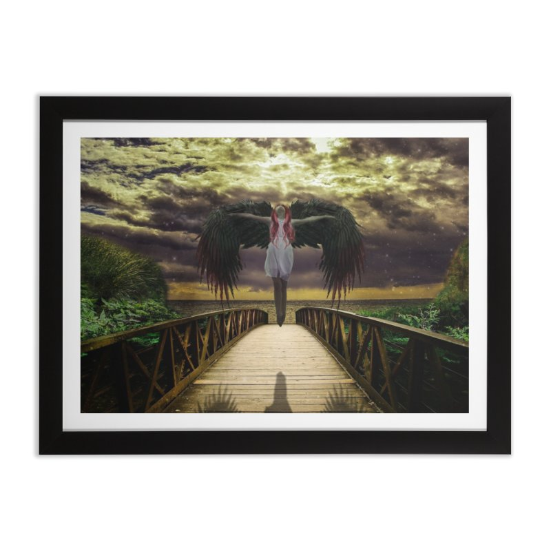 Angel Home Framed Fine Art Print by Pbatu's Artist Shop