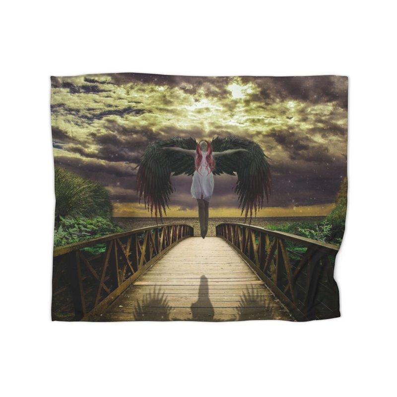 Angel Home Fleece Blanket Blanket by Pbatu's Artist Shop