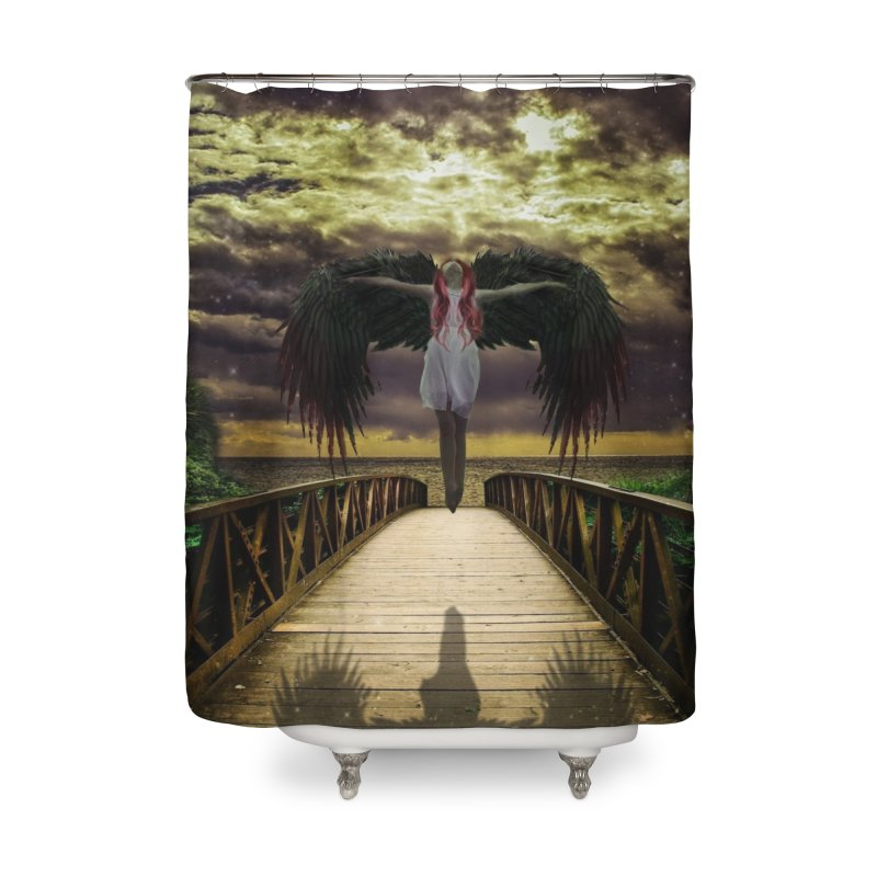 Angel Home Shower Curtain by Pbatu's Artist Shop