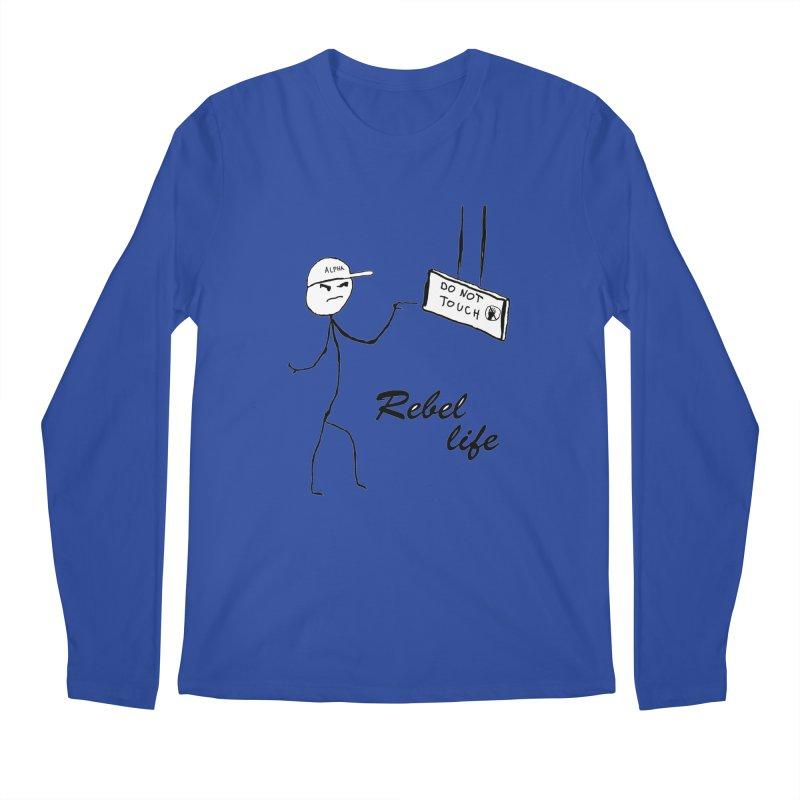 Rebel Men's Regular Longsleeve T-Shirt by Pbatu's Artist Shop