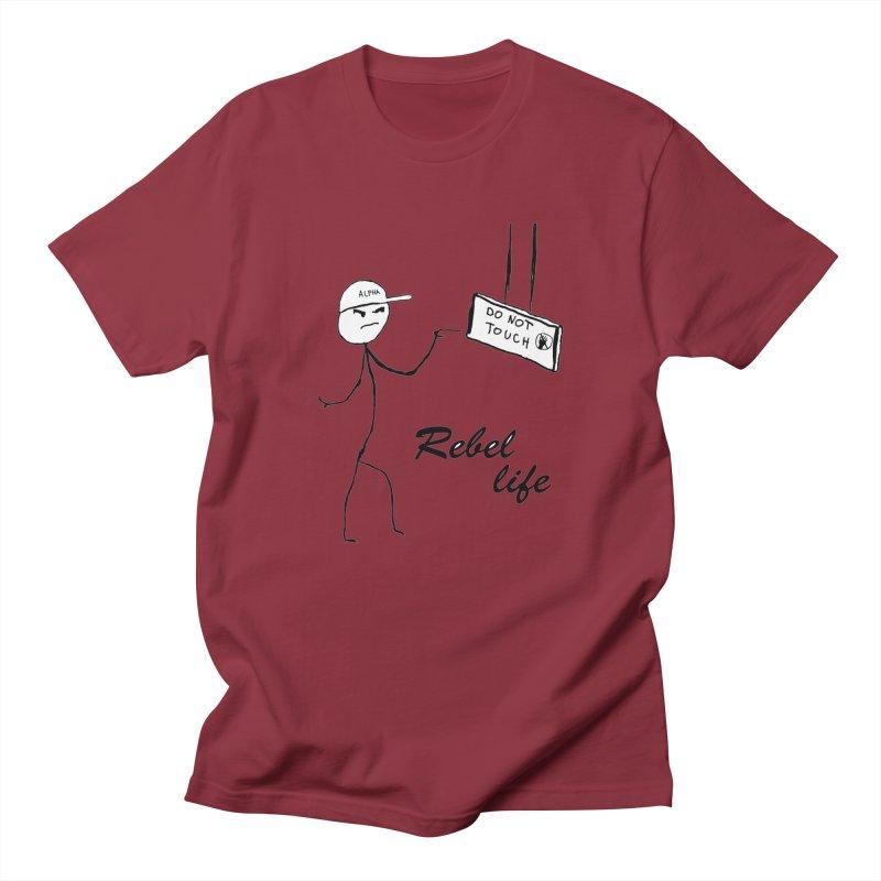 Rebel Women's Regular Unisex T-Shirt by Pbatu's Artist Shop