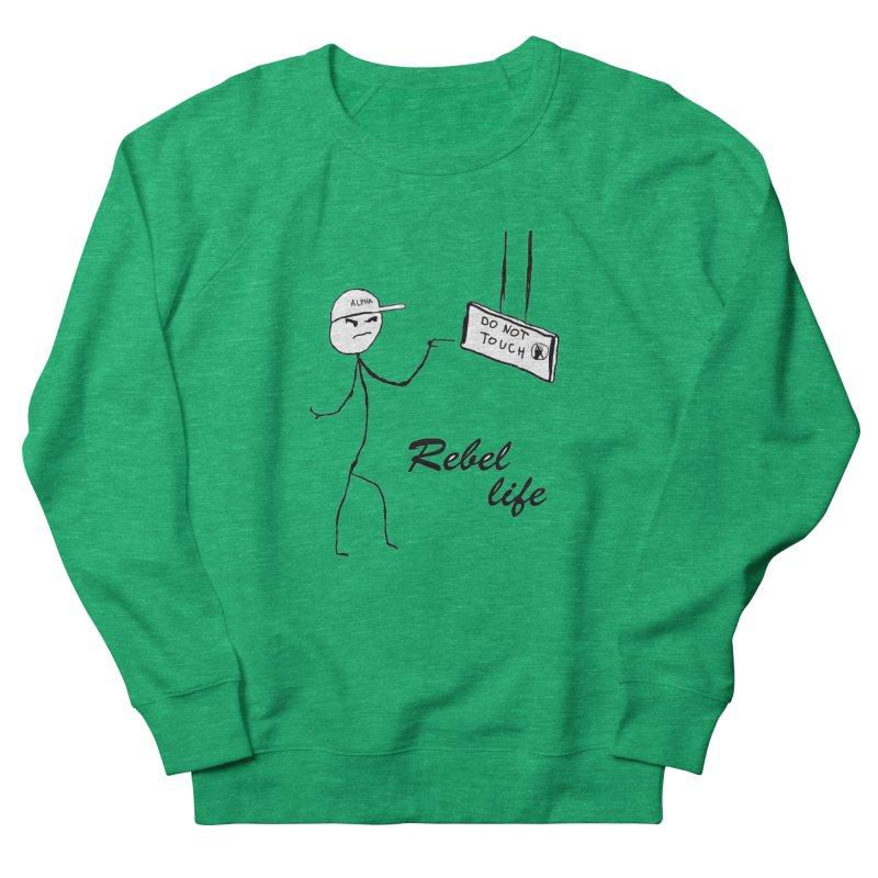 Rebel Men's French Terry Sweatshirt by Pbatu's Artist Shop