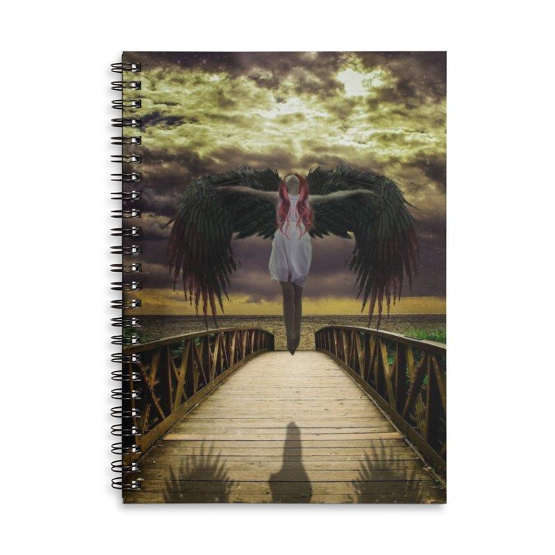 Angel Accessories Lined Spiral Notebook by Pbatu's Artist Shop