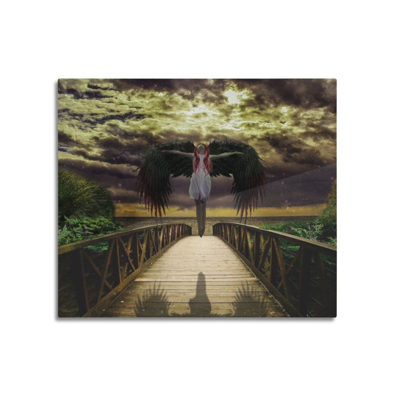 Angel Home Mounted Aluminum Print by Pbatu's Artist Shop