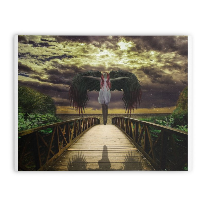 Angel Home Stretched Canvas by Pbatu's Artist Shop