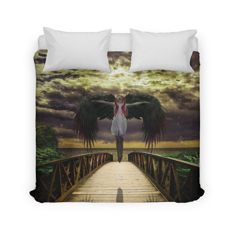 Angel Home Duvet by Pbatu's Artist Shop