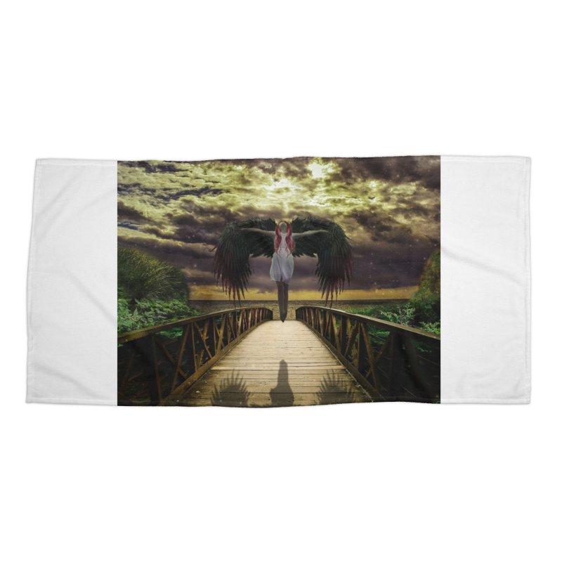 Angel Accessories Beach Towel by Pbatu's Artist Shop