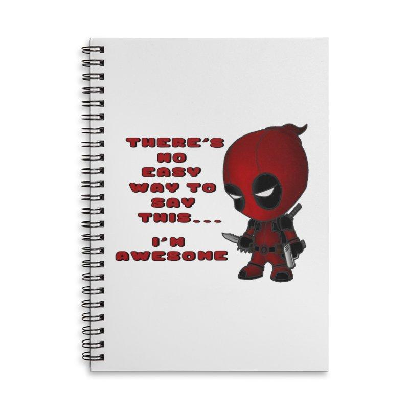 Deadpool Accessories Lined Spiral Notebook by Pbatu's Artist Shop