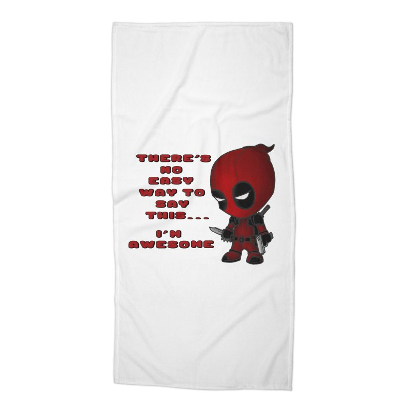 Deadpool Accessories Beach Towel by Pbatu's Artist Shop