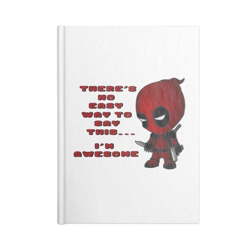 Deadpool Accessories Lined Journal Notebook by Pbatu's Artist Shop