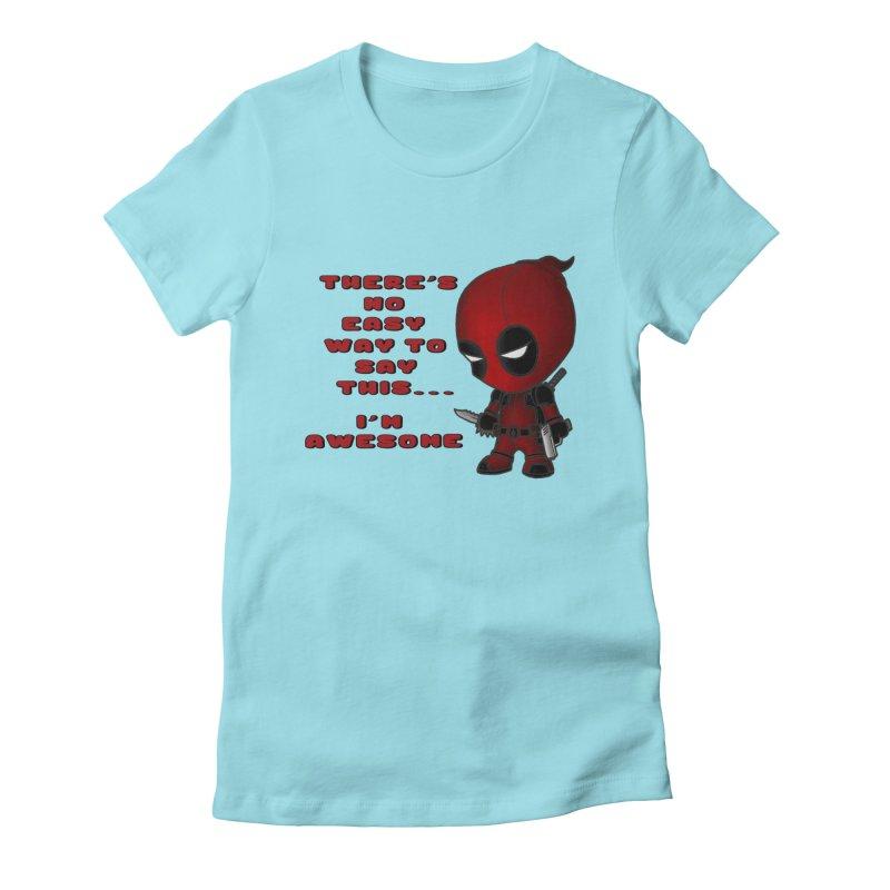 Deadpool Women's Fitted T-Shirt by Pbatu's Artist Shop