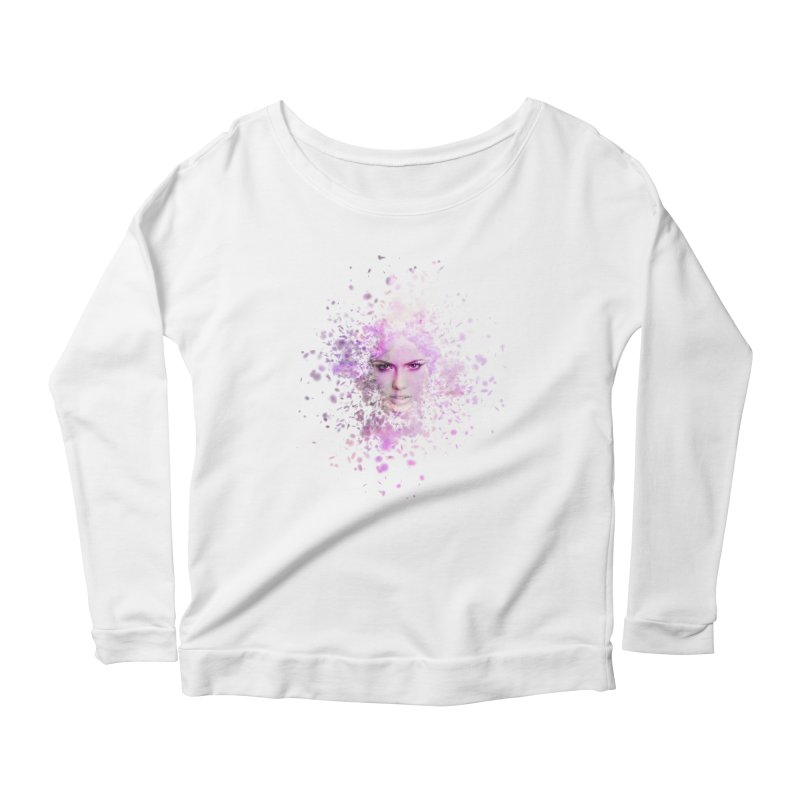 Fractured Women's Scoop Neck Longsleeve T-Shirt by Pbatu's Artist Shop