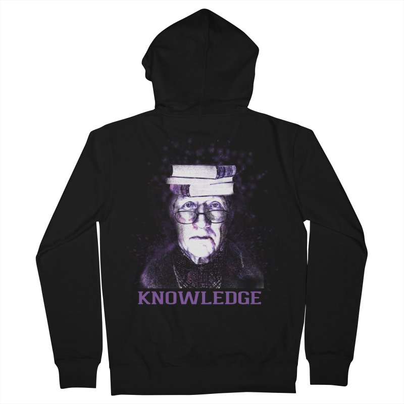 Knowledge Women's French Terry Zip-Up Hoody by Pbatu's Artist Shop