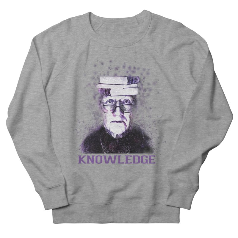 Knowledge Men's French Terry Sweatshirt by Pbatu's Artist Shop
