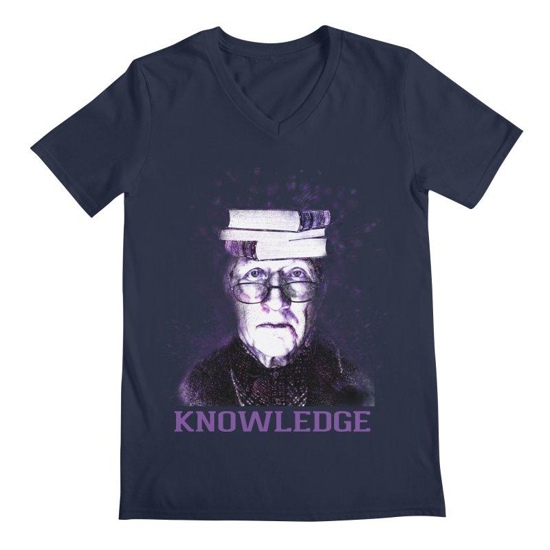 Knowledge Men's Regular V-Neck by Pbatu's Artist Shop