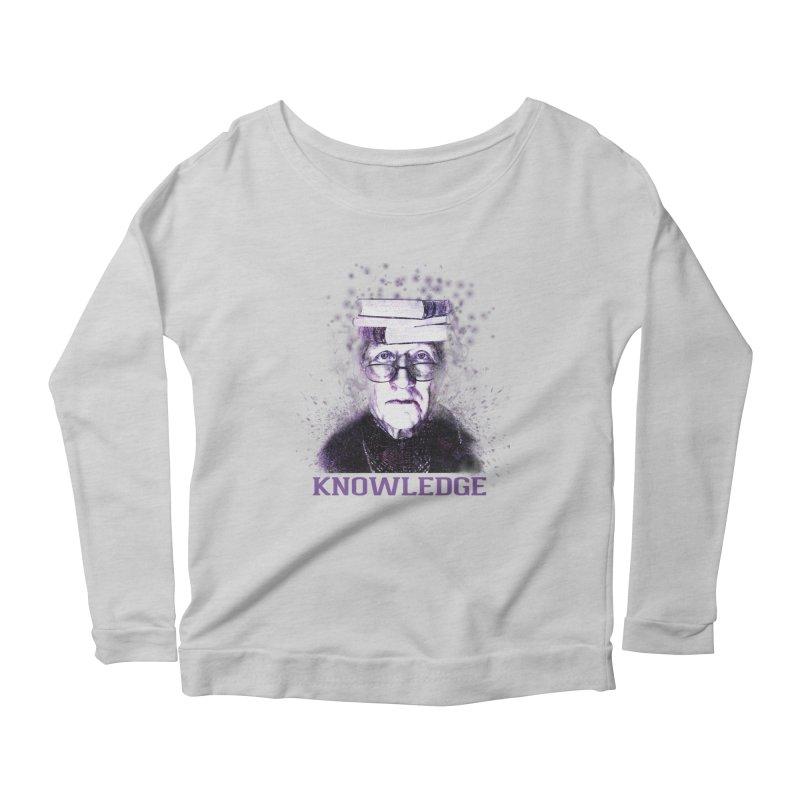 Knowledge Women's Scoop Neck Longsleeve T-Shirt by Pbatu's Artist Shop