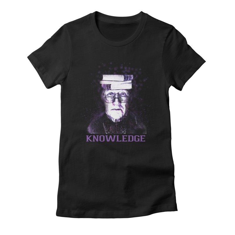 Knowledge Women's Fitted T-Shirt by Pbatu's Artist Shop