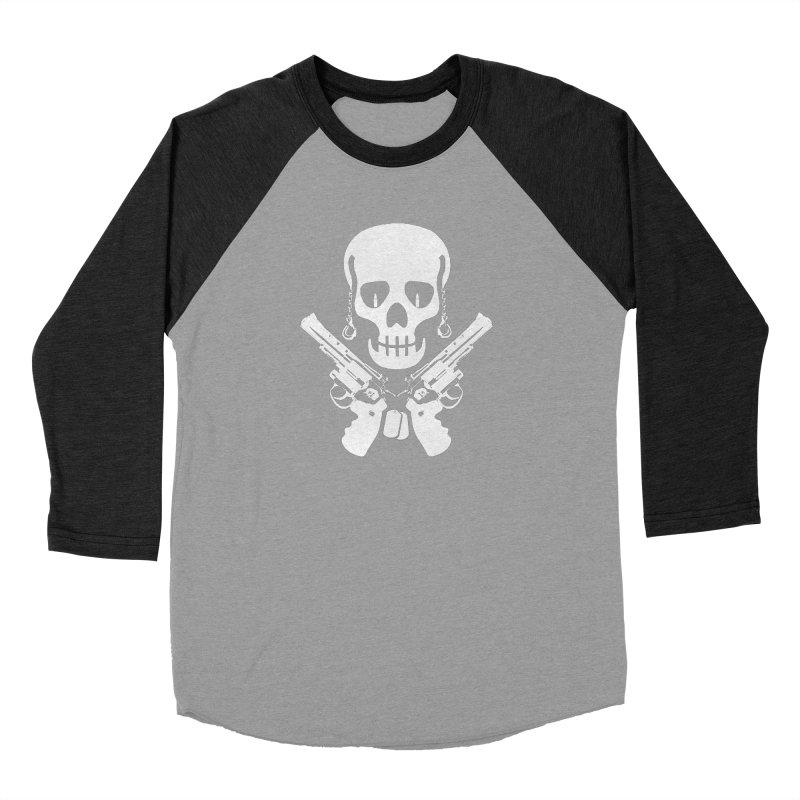 Skullhead Women's Baseball Triblend Longsleeve T-Shirt by Pbatu's Artist Shop