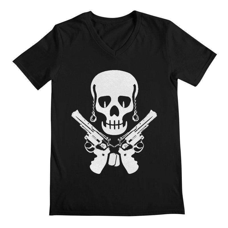 Skullhead Men's Regular V-Neck by Pbatu's Artist Shop