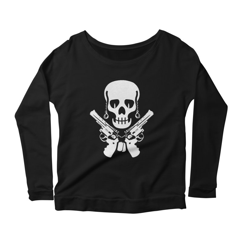 Skullhead Women's Scoop Neck Longsleeve T-Shirt by Pbatu's Artist Shop