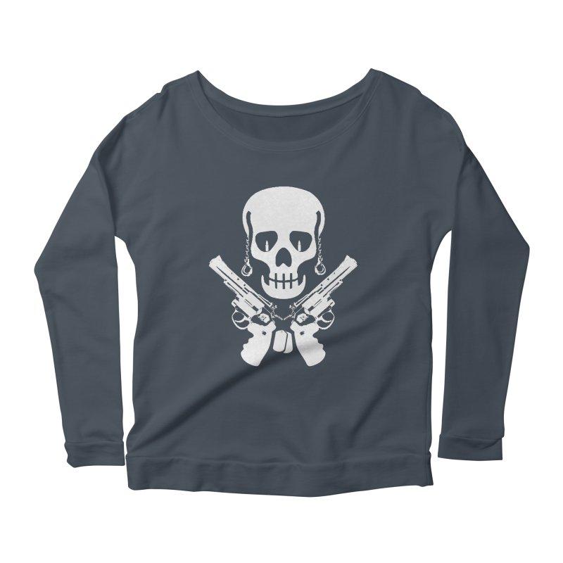 Skullhead Women's Scoop Neck Longsleeve T-Shirt by Pbatu's Artist Shop