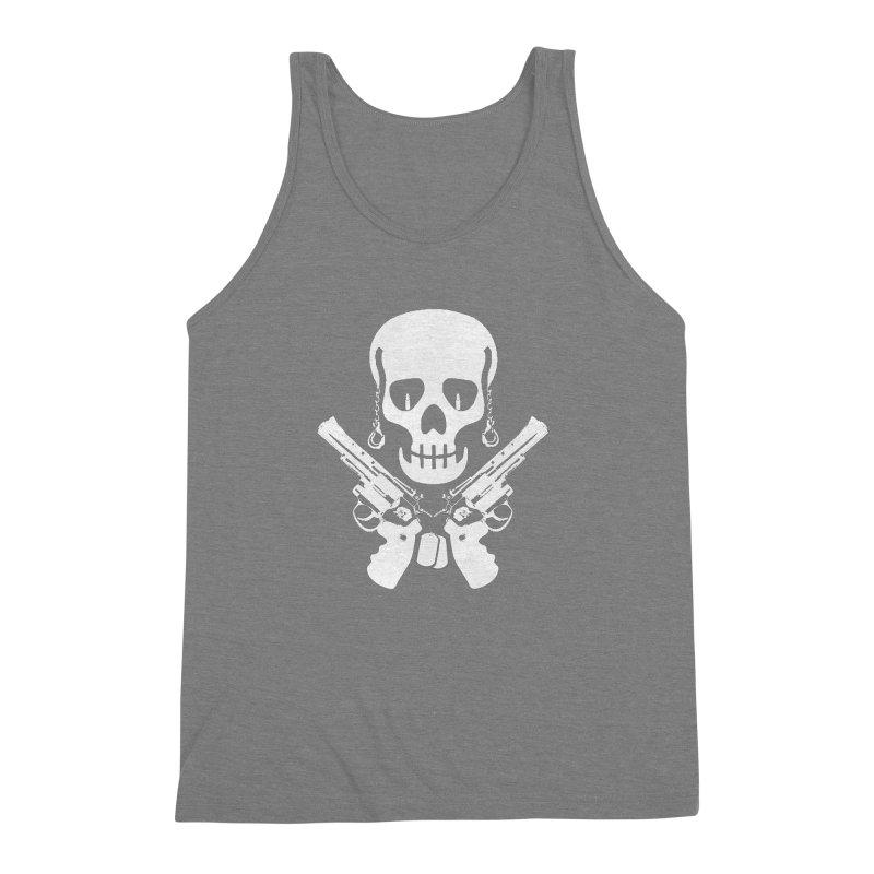 Skullhead Men's Triblend Tank by Pbatu's Artist Shop