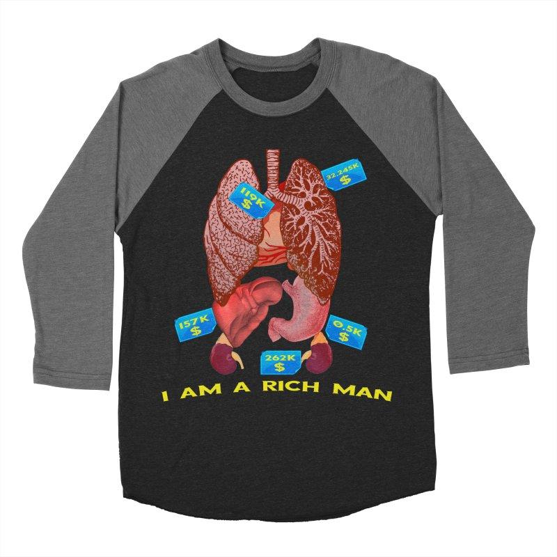 Rich Men's Baseball Triblend Longsleeve T-Shirt by Pbatu's Artist Shop
