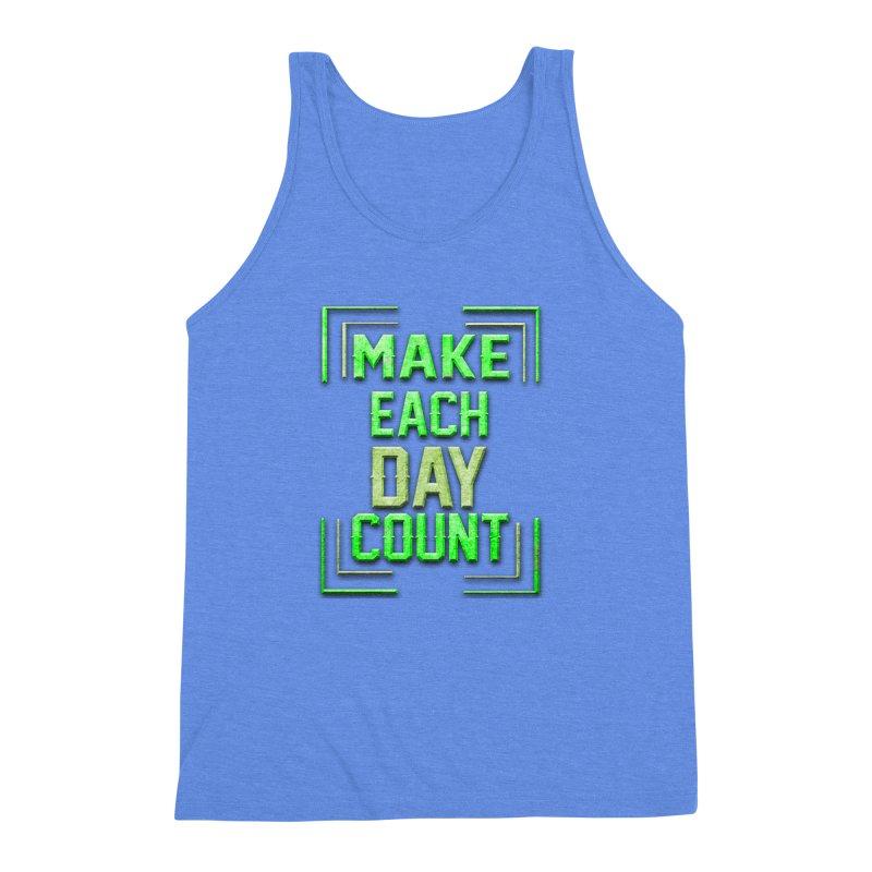 Make it Count Men's Triblend Tank by Pbatu's Artist Shop