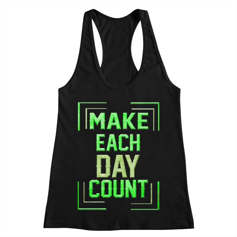 Make it Count Women's Racerback Tank by Pbatu's Artist Shop