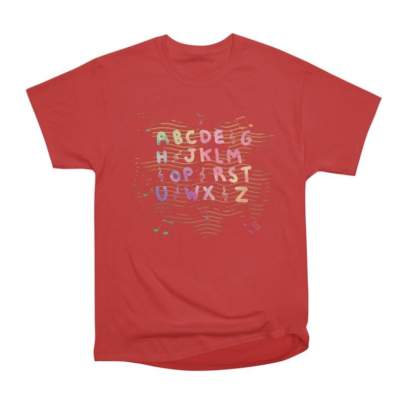 Alphabet Men's Heavyweight T-Shirt by Pbatu's Artist Shop