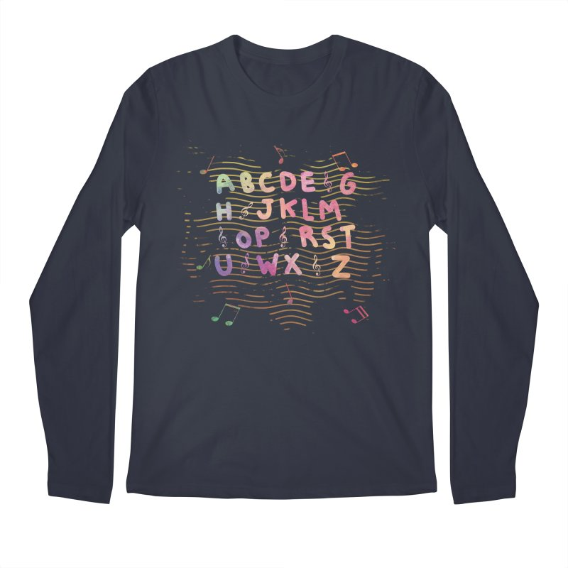 Alphabet Men's Longsleeve T-Shirt by Pbatu's Artist Shop