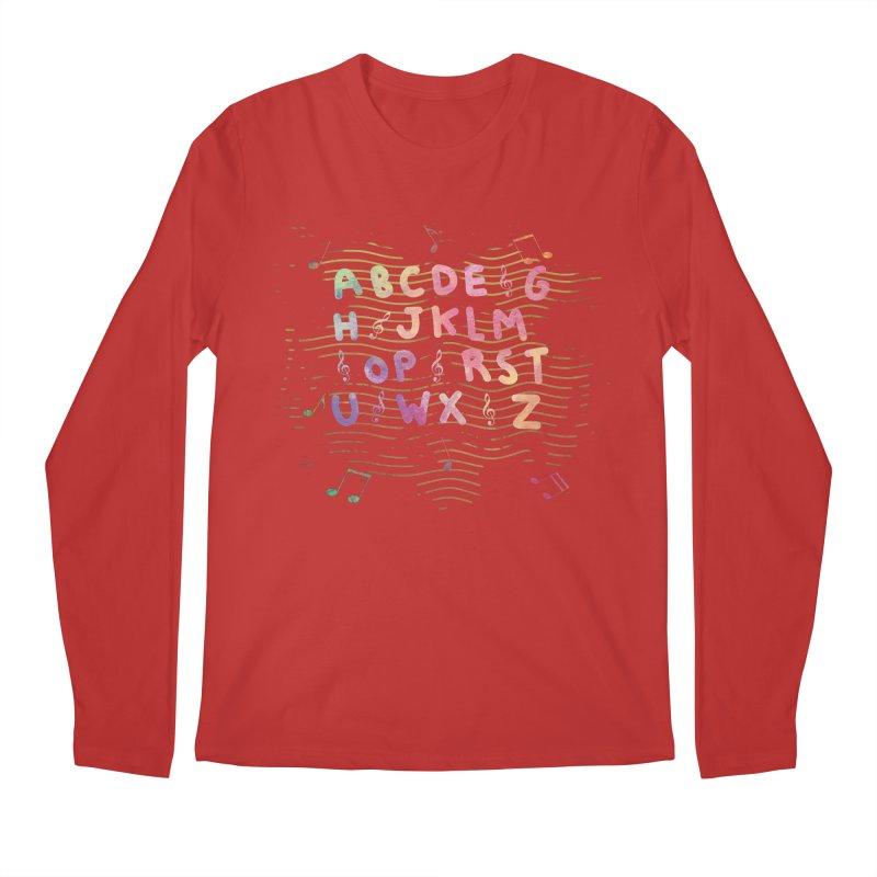 Alphabet Men's Longsleeve T-Shirt by Pbatu's Artist Shop