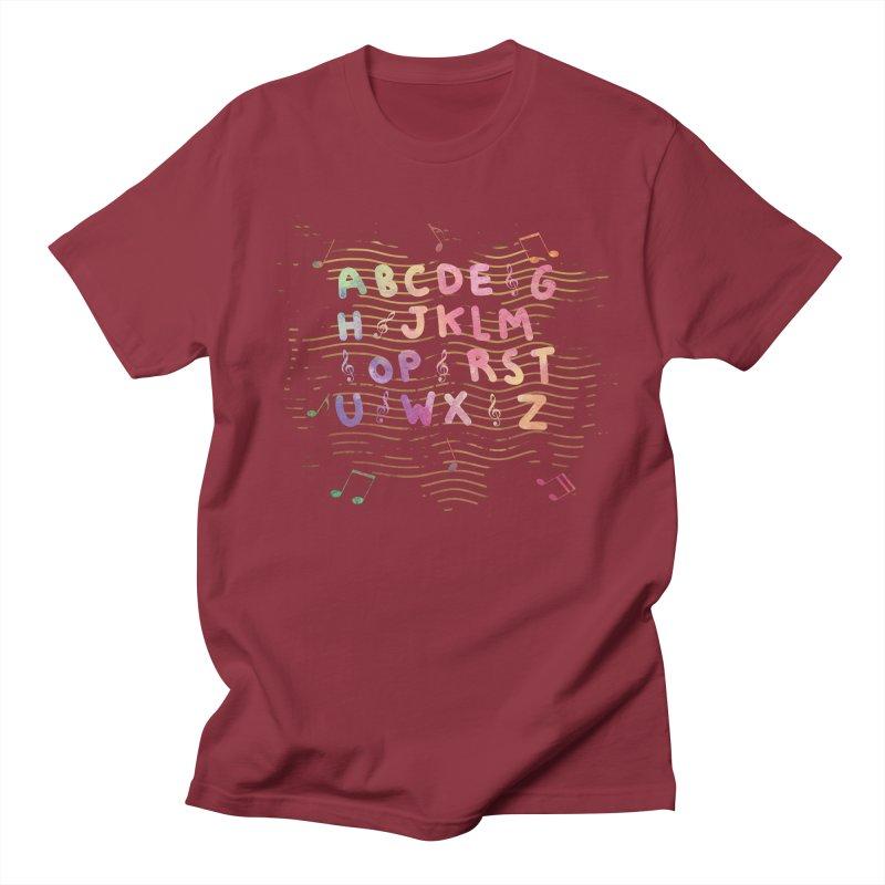 Alphabet Men's Regular T-Shirt by Pbatu's Artist Shop