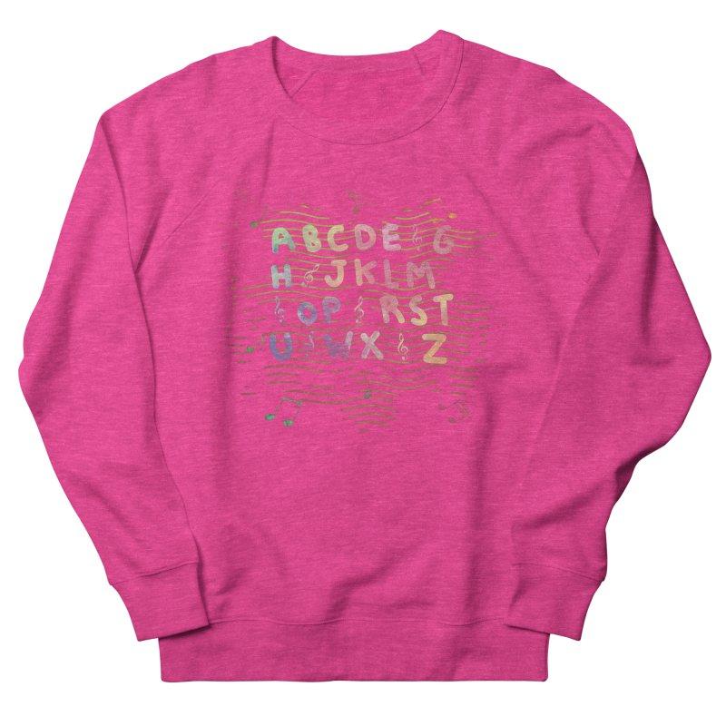 Alphabet Women's French Terry Sweatshirt by Pbatu's Artist Shop