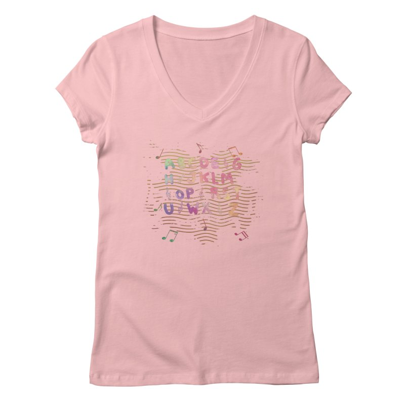 Alphabet Women's Regular V-Neck by Pbatu's Artist Shop