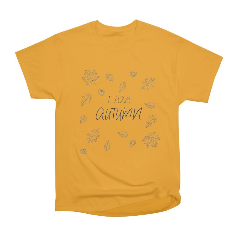 I love autumn (black) Women's T-Shirt by Pbatu's Artist Shop