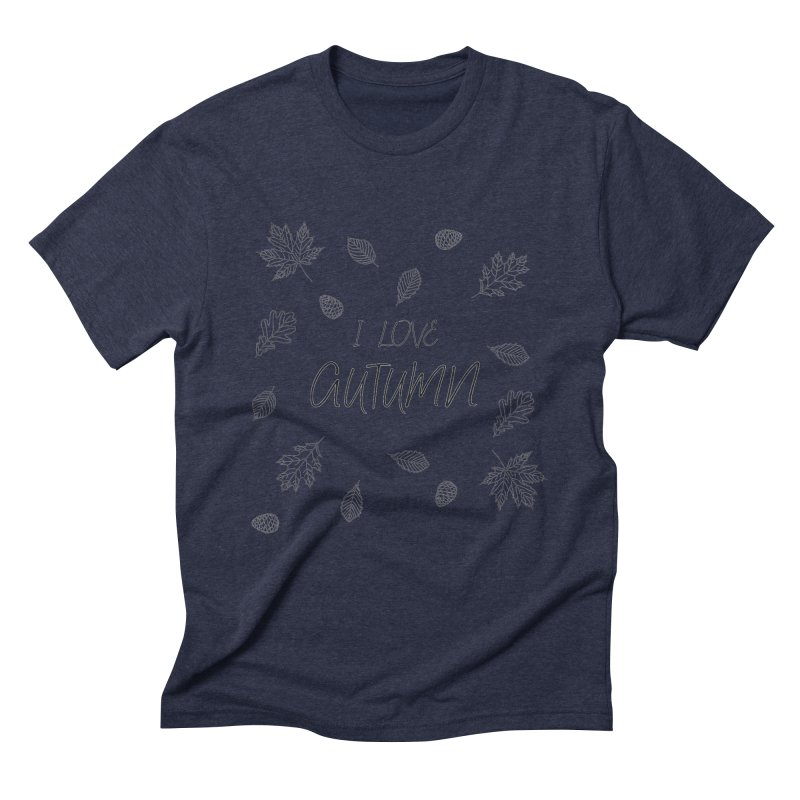 I love autumn (black) Men's Triblend T-Shirt by Pbatu's Artist Shop