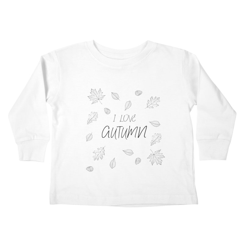 I love autumn (black) Kids Toddler Longsleeve T-Shirt by Pbatu's Artist Shop