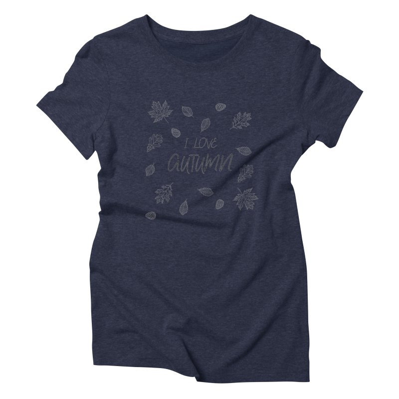 I love autumn (black) Women's Triblend T-Shirt by Pbatu's Artist Shop