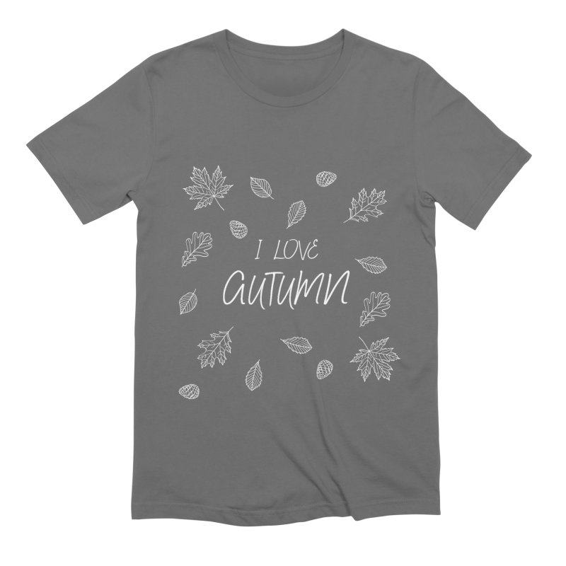 I love autumn (white) Men's T-Shirt by Pbatu's Artist Shop