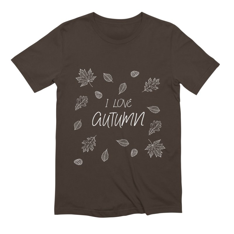 I love autumn (white) Men's Extra Soft T-Shirt by Pbatu's Artist Shop