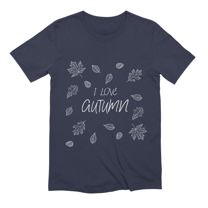 I love autumn (white) Men's T-Shirt by Pbatu's Artist Shop