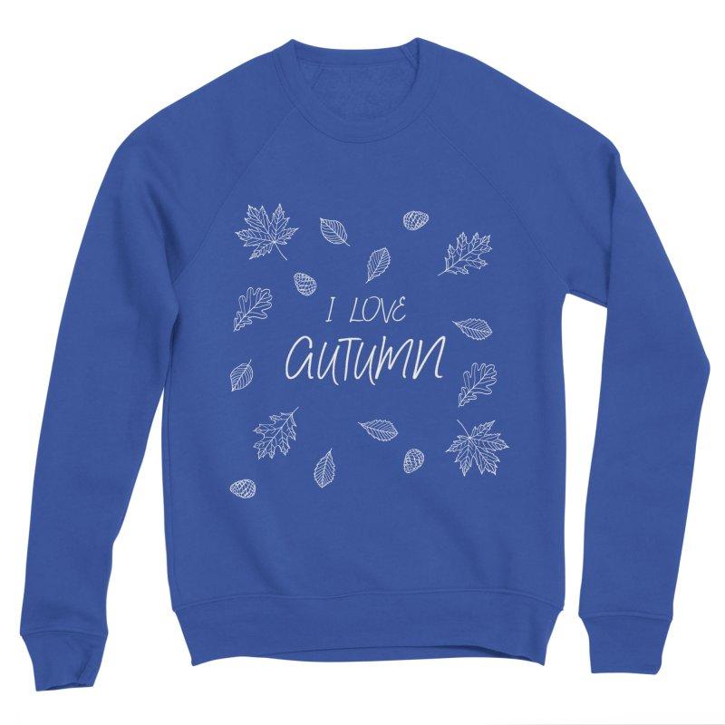 I love autumn (white) Women's Sponge Fleece Sweatshirt by Pbatu's Artist Shop