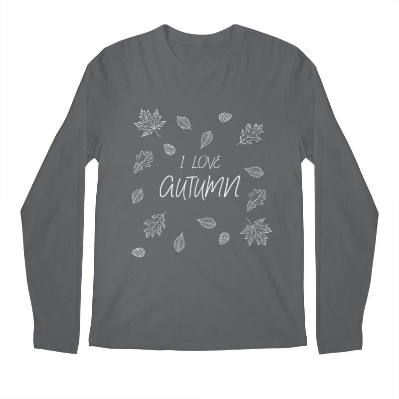 I love autumn (white) Men's Longsleeve T-Shirt by Pbatu's Artist Shop