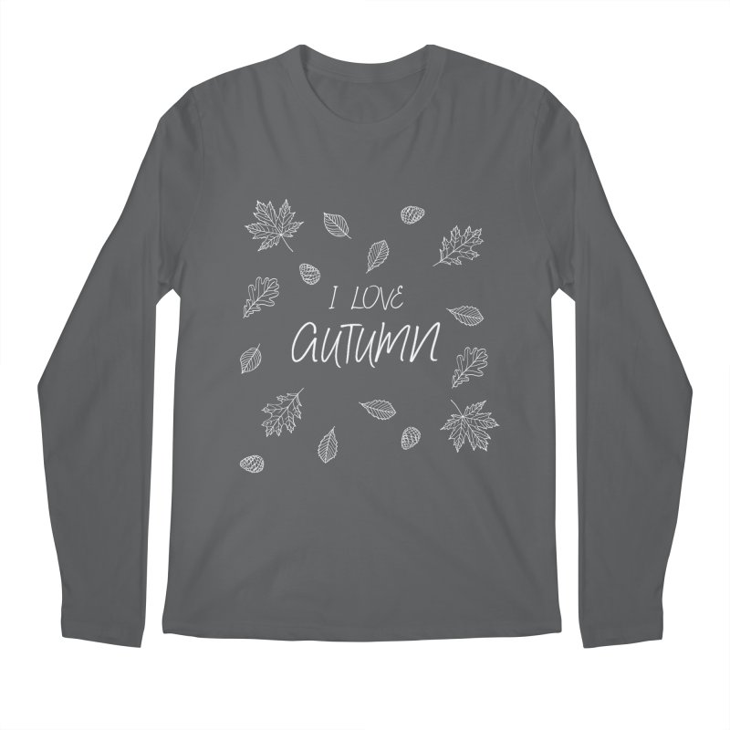 I love autumn (white) Men's Regular Longsleeve T-Shirt by Pbatu's Artist Shop